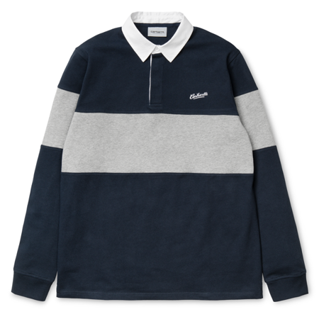CARHARTT L/S Vintage Brush Rugby Polo Navy White - FW17