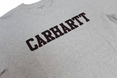 CARHARTT S/S College T-Shirt Ash Heather/Damson - FW17