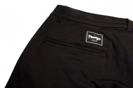 PHENOTYPE Szorty Black Biker Chino Shorts