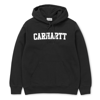 CARHARTT Bluza Hooded College Sweatshirt Black/White - FW17